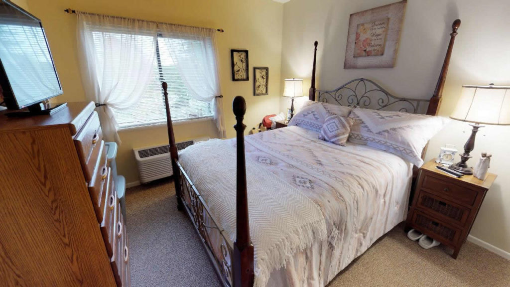 One bedroom apartment at Cedar Lane senior Living Community