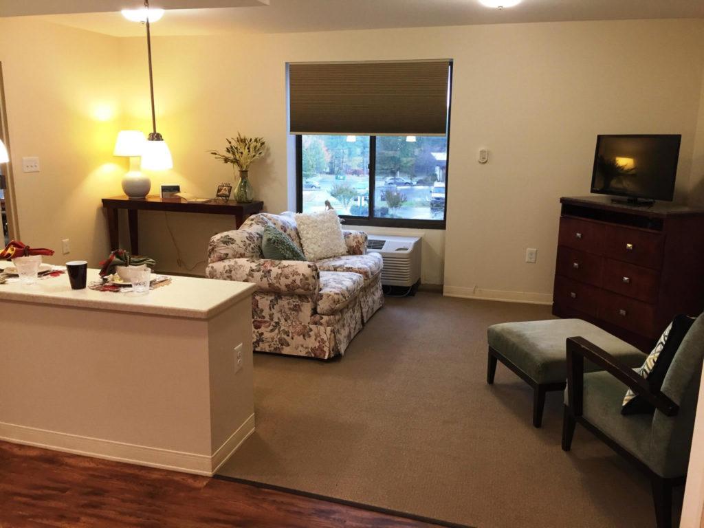 One bedroom apartment Cedar Lane Senior Living community