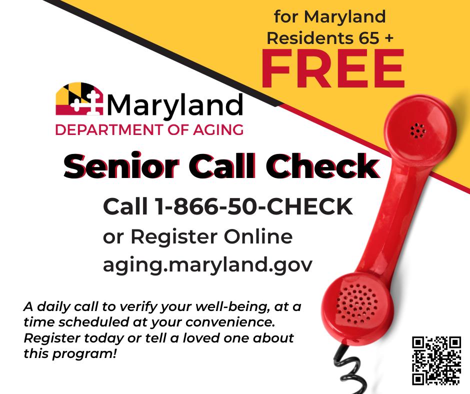 Senior Call Check - Call 1-866-50-CHECK